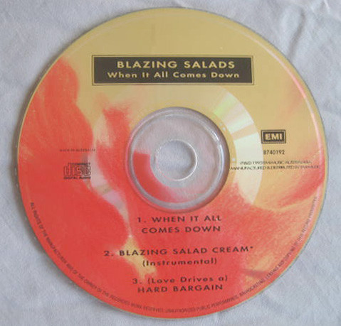 Blazing Salads - When It All Comes Down CD