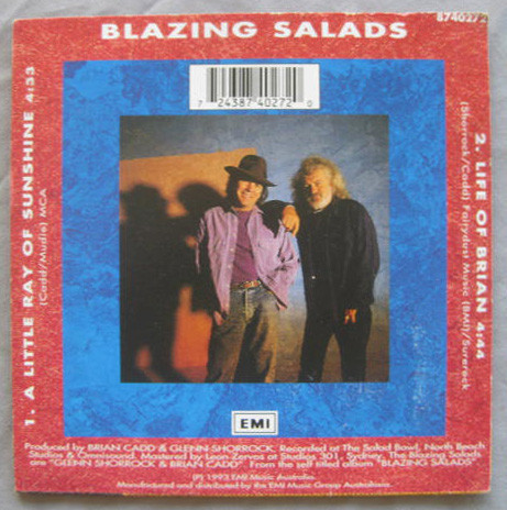 Blazing Salads - A Little Ray Of Sunshine Rear Cover