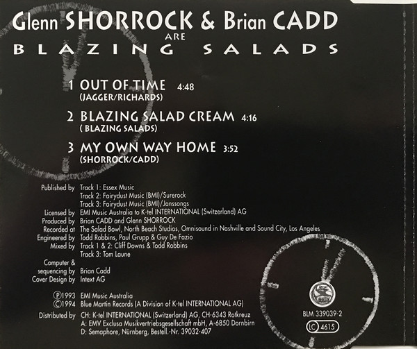 Blazing Salads - Out Of Time Cover Rear