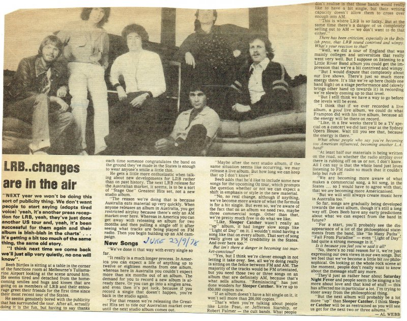Beeb Birtles Interview September 1978