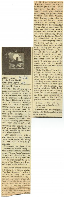 After Hours Rolling Stone Review
