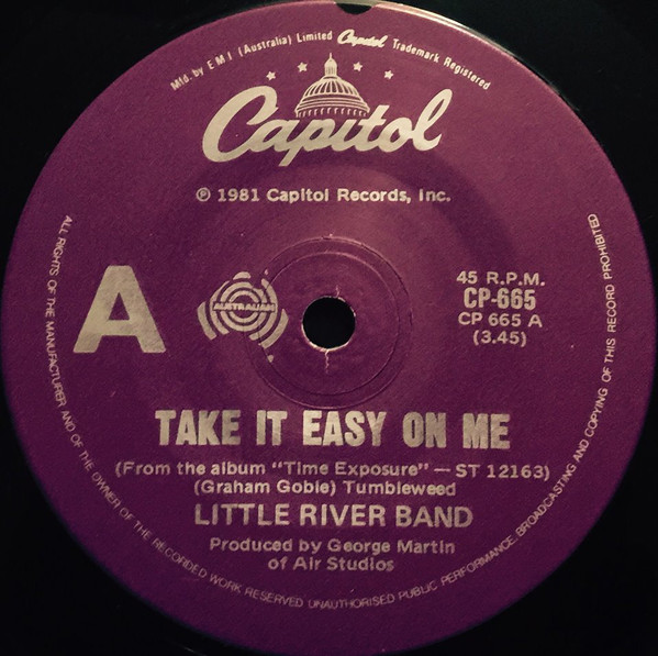 Take It Easy On Me Single 21