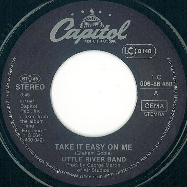Take It Easy On Me Single 2