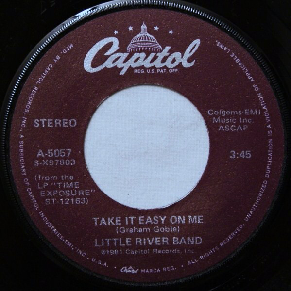 Take It Easy On Me Single 7