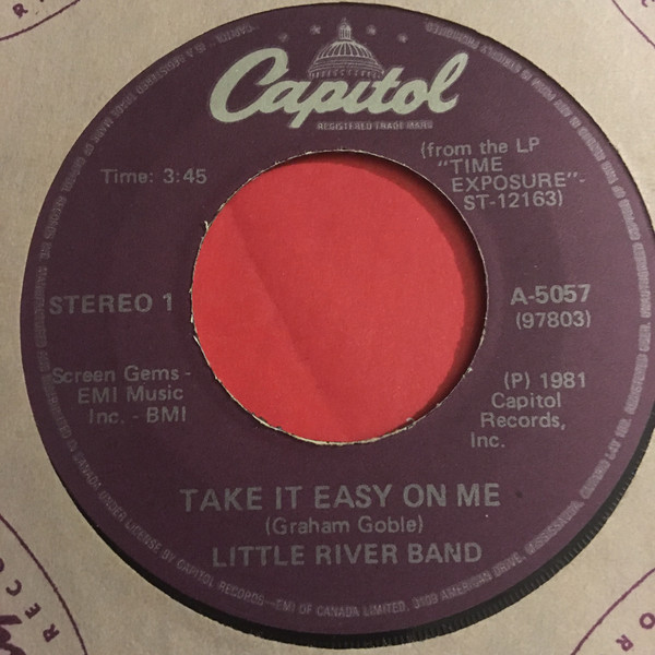 Take It Easy On Me Single 13
